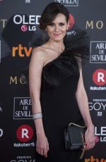 ELENA BALLESTEROS at 32nd Goya Awards in Madrid 02/03/2018