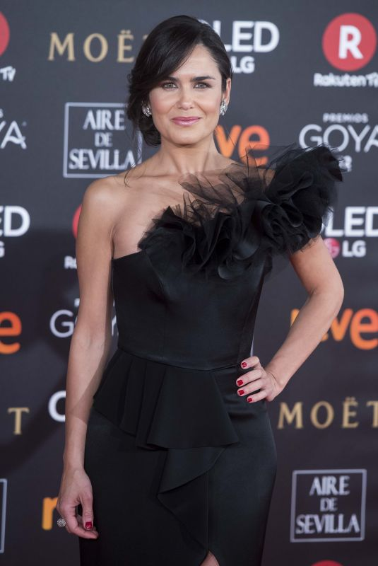 ELENA BALLESTEROS at 32nd Goya Awards in Madrid 02/03/2018