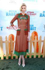 ELIZABETH DEBICKI at Peter Rabbit Premiere in Los Angeles 02/03/2018