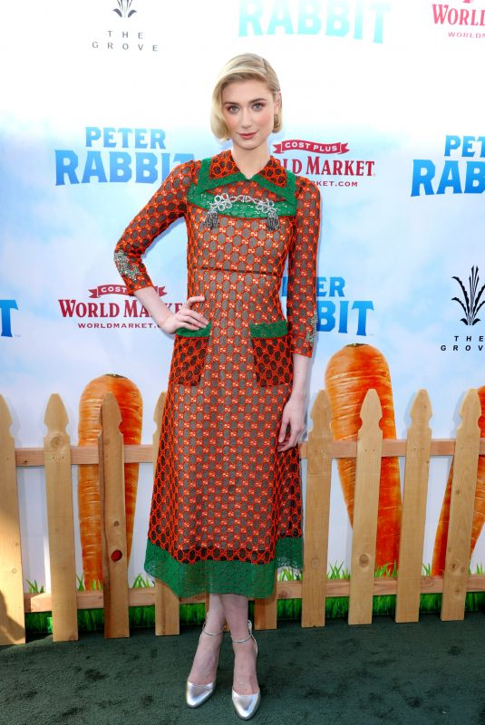 ELIZABETH DEBICKI at Peter Rabbit Premiere in Los Angeles 02/03/2018