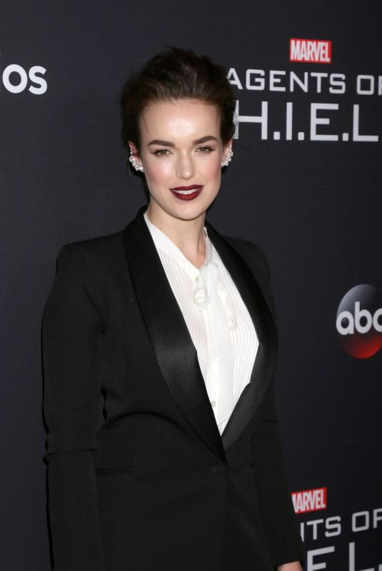 ELIZABETH HENSTRIDGE at Agents of S.H.I.E.L.D. 100th Episode Celebration in Hollywood 02/24/2018