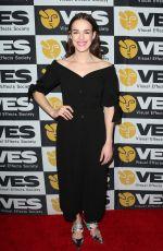 ELIZABETH HENSTRIDGE at VES Awards 2018 in Los Angeles 02/13/2018