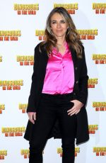 ELIZABETH HURLEY at Dinosaurs in the Wild Exhibition in London 02/13/2018