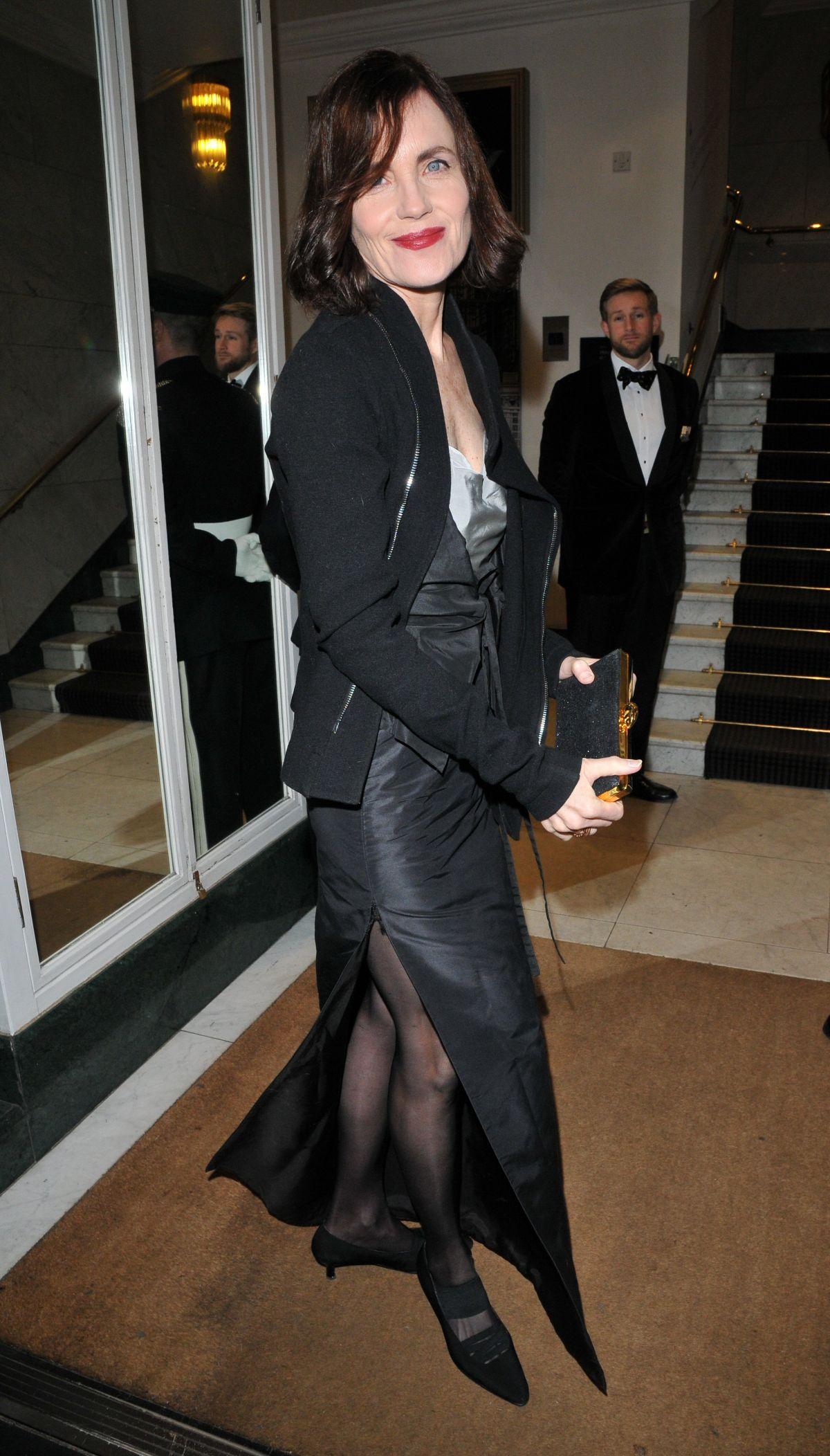 Elizabeth mcgovern arrives at harvey weinstein pre baftas dinner in london new pictures