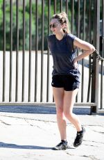 ELIZABETH OLSEN Out Hikking in Runyon Canyon in West Hollywood 02/05/2018