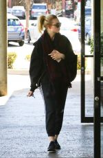 ELLE FANNING Arrives at a Gym in Los Angeles 02/23/2018