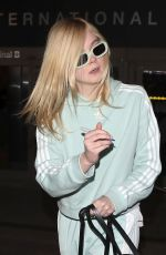 ELLE FANNING at Los Angeles International Airport 02/21/2018