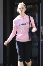 ELLE FANNING Heading to a Gym in Los Angeles 02/22/2018