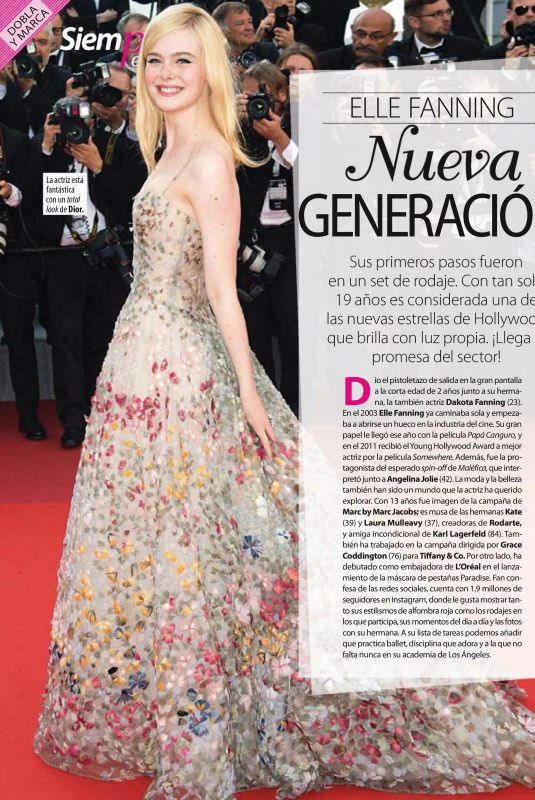 ELLE FANNING in Stilo Magazine, Spain March 2018