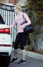 ELLE FANNING Out in Los Angeles 02/22/2018
