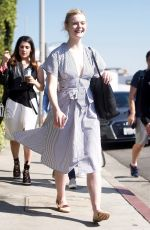 ELLE FANNING Shopping at Melrose Place in West Hollywood 02/09/2018