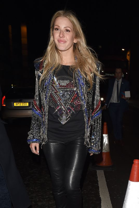 ELLIE GOULDING Arrives at Warner Music Brits After-party in London 02/21/2018