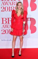 ELLIE GOULDING at Brit Awards 2018 in London 02/21/2018