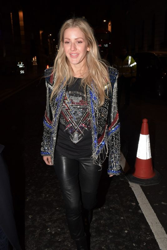 ELLIE GOULDING Leaves Ned Hotel in London 02/21/2018