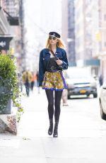 ELSA HOSK in Vintage Versace Out in New York 02/12/2018