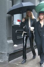 ELSA HOSK Out and About in New York 02/11/2018