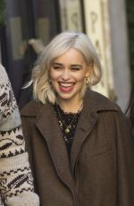 EMILIA CLARKE on the Set of Dolce and Gabbana Commercial in Rome 02/04/2018