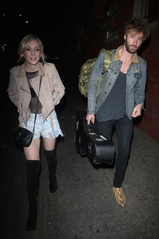 EMILY KINNEY and Paul McDonald Leaves Hotel Cafe in Los Angeles 02/16/2018