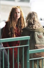 EMMA BOOTH and ROSE REYNOLDS on the Set of Once Upon a Time in Vancouver 02/27/2018