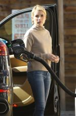 EMMA ROBERTS at a Gas Station in Los Angeles 02/20/2018