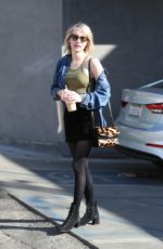 EMMA ROBERTS at Nine Zero One Salon in West Hollywood 02/12/2018