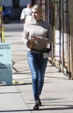 EMMA ROBERTS Leaves Alfred Coffee in West Hollywood 02/20/2018