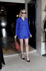 EMMA ROBERTS Leaves Mulberry Fashion Show at LFW in London 02/16/2018