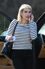 EMMA ROBERTS Out in Los Angeles 02/27/2018