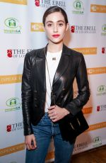 EMMY ROSSUM at Stories from the Front Line Charity Program in Los Angeles 02/27/2018