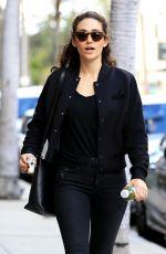 EMMY ROSSUM Leaves Pressed Juicery in Beverly Hills 02/13/2018