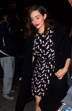 EMMY ROSSUM Out for Dinner at Tao in New York 02/05/2018