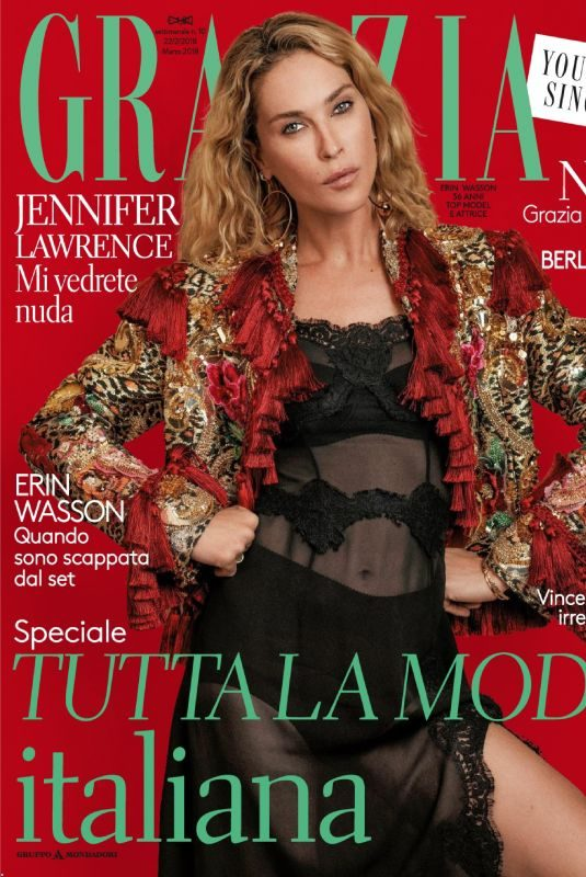 ERIN WASSON in Grazia Magazine, Italy February 2018