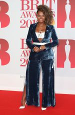 FLEUR EAST at Brit Awards 2018 in London 02/21/2018