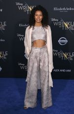 FOLA EVANS-AKINGBOLA at A Wrinkle in Time Premiere in Los Angeles 02/26/2018