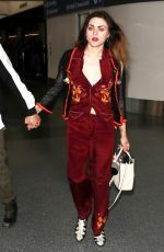 FRANCES BEAN COBAIN and Matthew Cook at LAX Airport in Los Angeles 02/09/2018