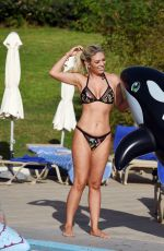 FRANKIE ESSEX in Bikini at a Pool in Portugal 02/20/2018