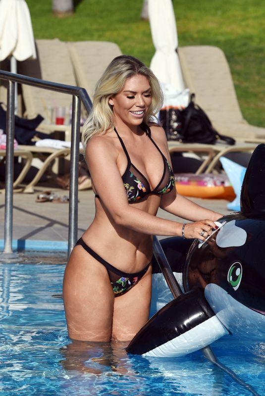 FRANKIE ESSEX in Bikini at a Pool in Portugal 02/20/2018