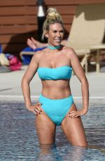 FRANLIE ESSEX in Bikini at a Pool in Portugal 02/22/2018