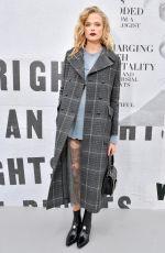 GABRIELLA WILDE at Christian Dior Show at Paris Fashion Week 02/27/2018
