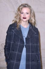 GABRIELLA WILDE at Christian Dior Show at Paris Fashion Week 02/27/2018