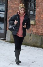 GEMMA ATKINSON Leaves Key 103 Radio in Manchester 02/28/2018