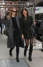 GEORGIA FOWLER and MEGAN WILLIAMS Out at New York Fashion Week 02/12/2018