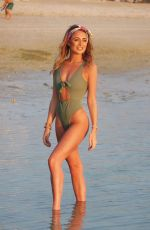GEORGIA HARRISON in Swimsuit at a Beach in Dubai 02/06/2018