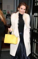GERI HALLIWELL Arrives at BBC Radio 2 in London 02/26/2018