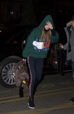 GIGI HADID Arrives at Her Hotel in Paris 02/25/2018