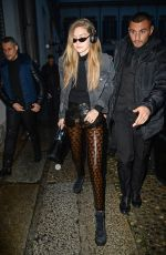 GIGI HADID Arrives at Versace Fashion Show in Milan 02/23/2018