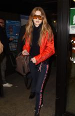 GIGI HADID at Airport in Milan 02/25/2018