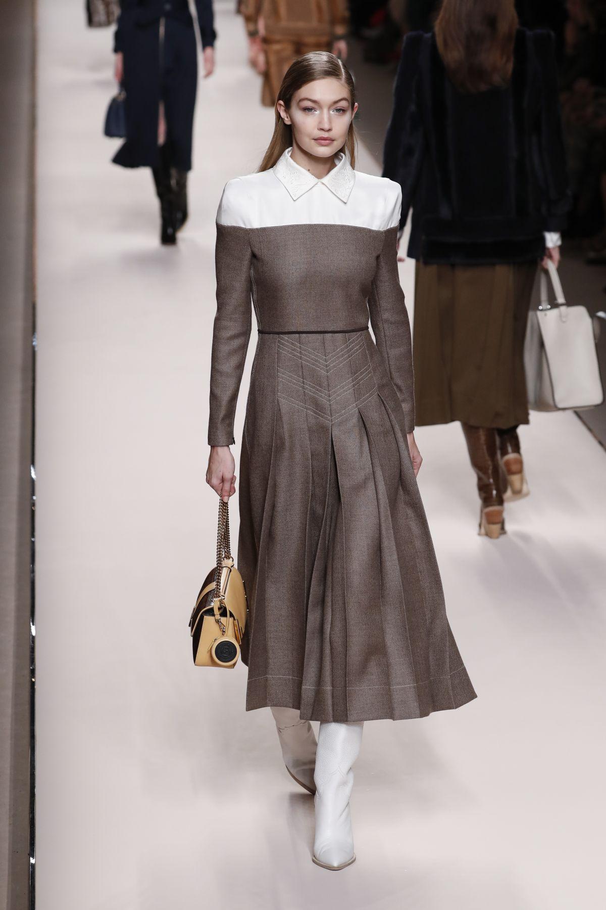 GIGI HADID at Fendi Fashion Show at MFW in Milan 02/22 ...