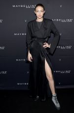 GIGI HADID at Maybelline New York x V Magazine Fashion Week Party in New York 02/11/2018