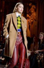 GIGI HADID at Versace Runway Show at Milan Fashion Week 02/23/2018